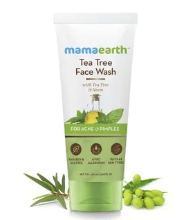Mamaearth Face Wash With Tea Tree Oil And Neem Extract For Acne & Pimples